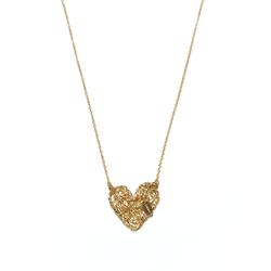 Aura Heart Necklace - Yellow Gold - TARBAY