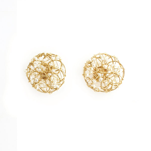 Aura Pearl Stud Earrings