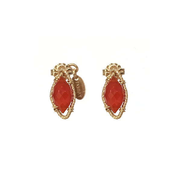 Fabi Stud Earrings - Cornelian - TARBAY