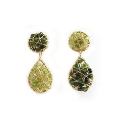 Lucía Green Short Earrings