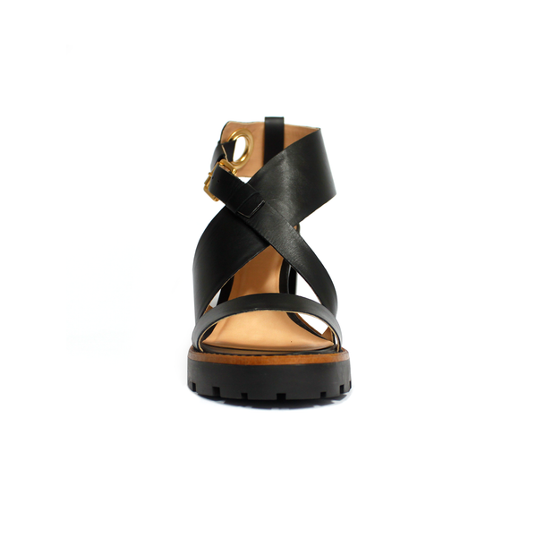Pecari Black Sandals - TARBAY