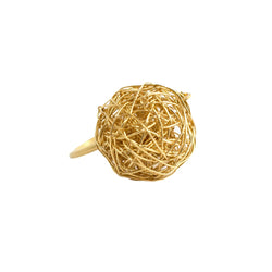 Clementina Ring (18mm) - Yellow Gold - TARBAY