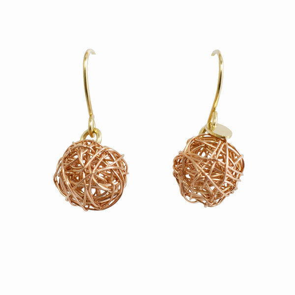 Clementina  Dangle Earrings (12mm) - Rose Gold - TARBAY