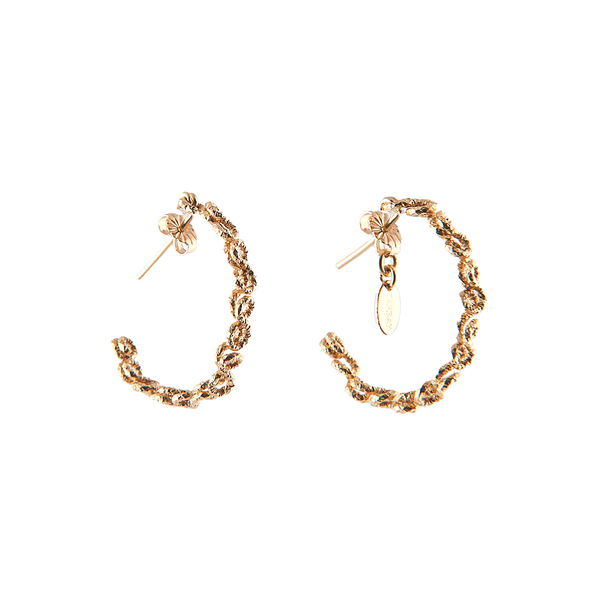 Beth Hoop Earrings (30mm) - Yellow Gold - TARBAY
