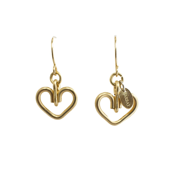 Corazon Dangle Earrings (12mm) - Yellow Gold - TARBAY