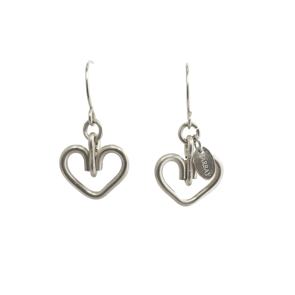 Corazon Dangle Earrings (12mm) - Sterling Silver - TARBAY