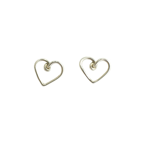 Corazon Button Earrings (12mm) - Stearling Silver
