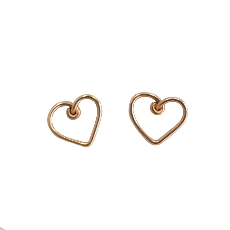 Corazon Button Earrings (12mm) - Rose Gold - TARBAY