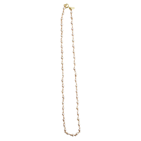 Pearl Chain Necklace (4-5mm) - Rose Gold
