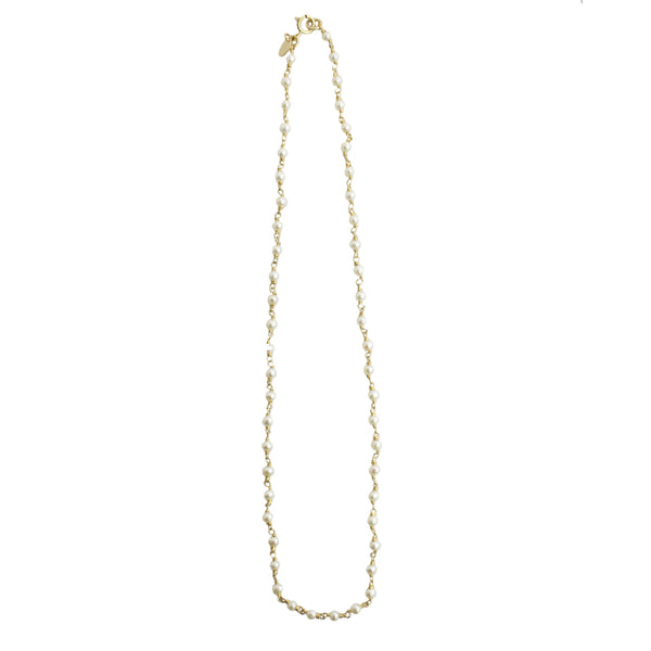 Pearl Chain Necklace (4-5mm) - TARBAY