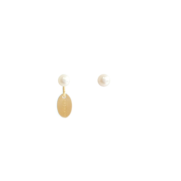 Classic Pearl Earrings (4-5mm) - White Pearl
