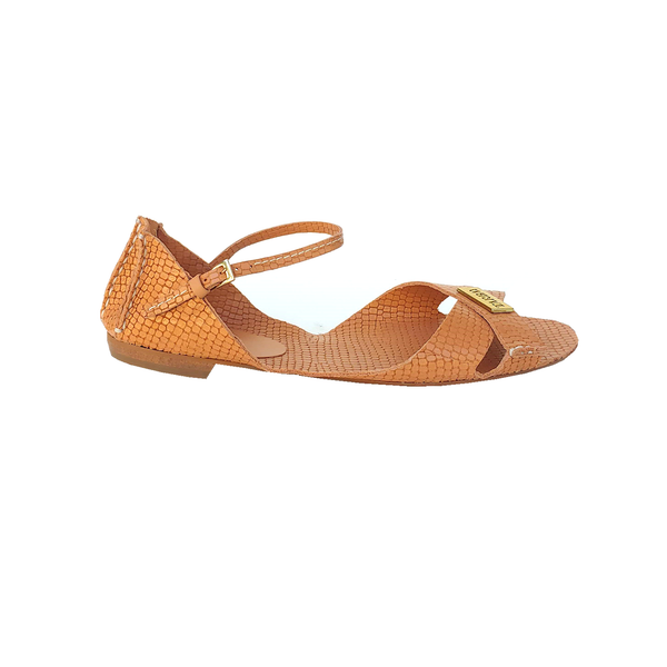 Tajali Leather Sandals - Viper Sweet - TARBAY