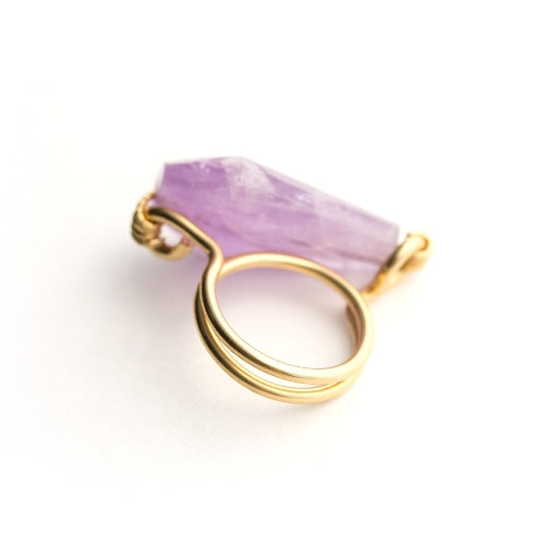 Simone Light Purple Ring