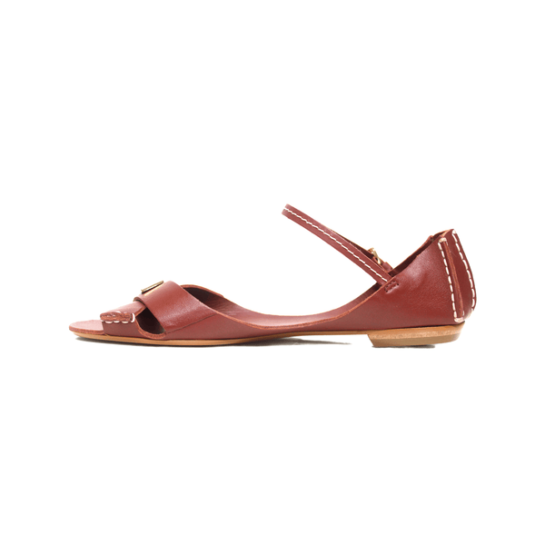 Tajali Leather Sandals - Earthy