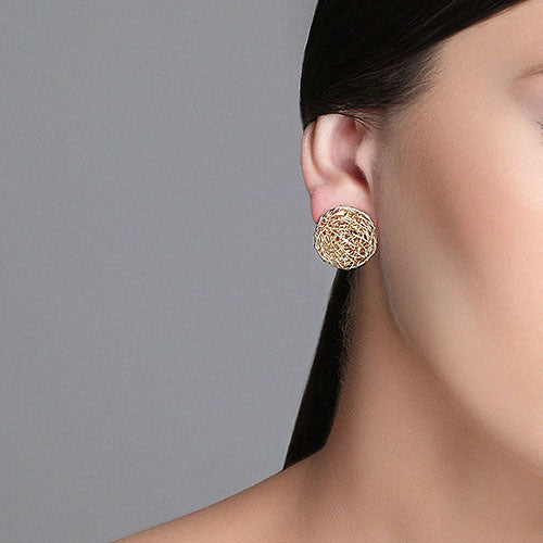 Aura Earrings #1 (20mm) - Yellow Gold - TARBAY