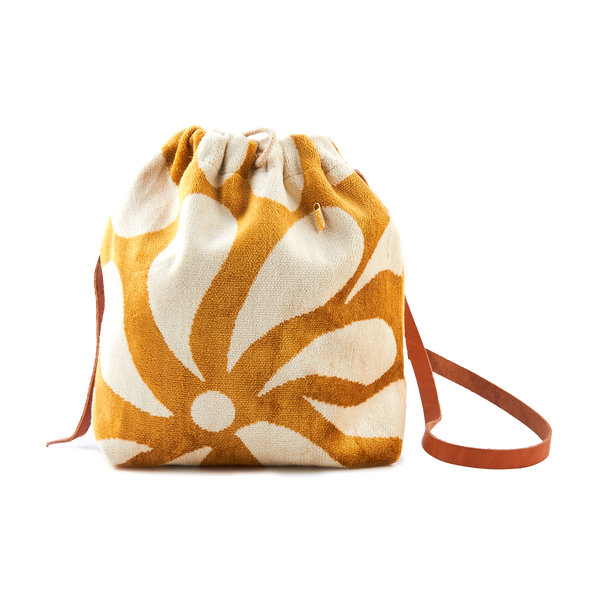 Oriana Bucket Bag #2 (Large) - Yellow & Cream - TARBAY