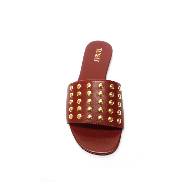 Herus Flat Sandals - Bordeaux