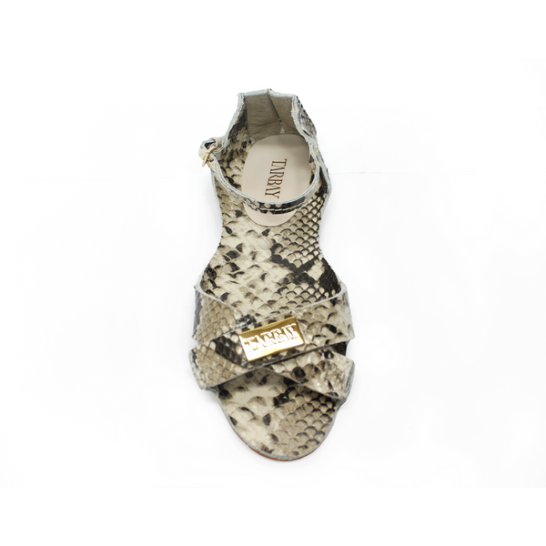 Tajali Leather Sandals - Ice Print - TARBAY