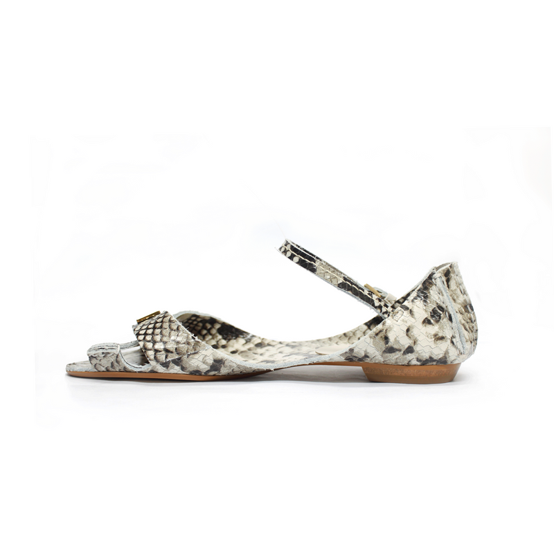 Tajali Leather Sandals - Python Ice