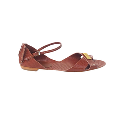 Tajali Leather Sandals - Viper Caramel - TARBAY