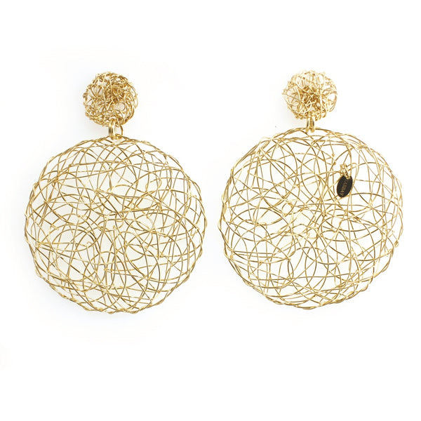 Aura Earrings #3 (50mm) - Yellow Gold - TARBAY