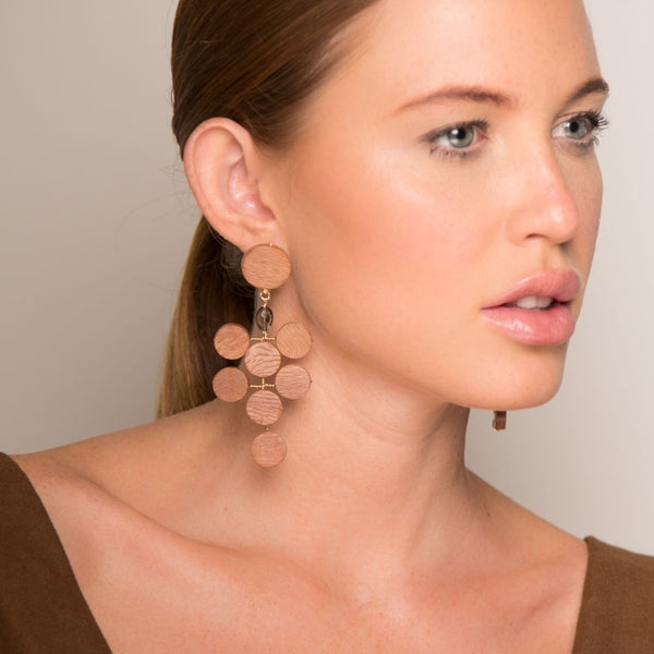 Adasan Dangle Earrings - Smoky Quartz - TARBAY