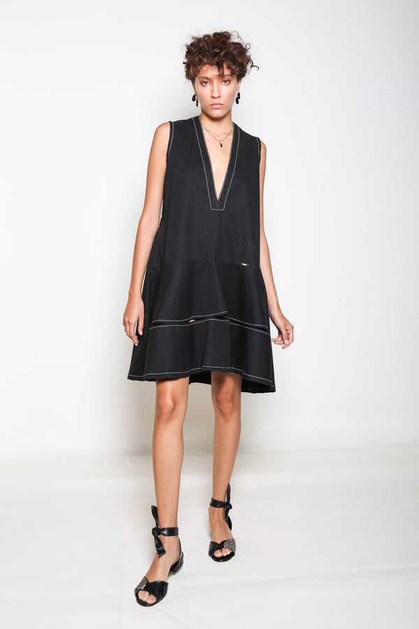 Nereida Ojidu Dress - Black - TARBAY