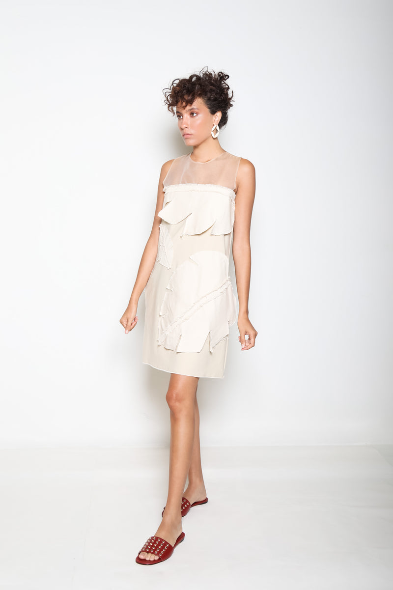 Ximenia Dress - Beige - TARBAY