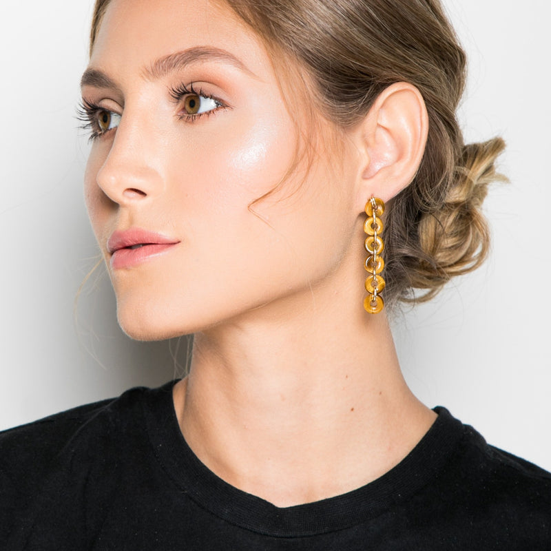 Mojobo Earring - Tiger's Eye