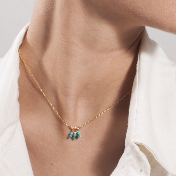 Racimo Necklace - Turquoise