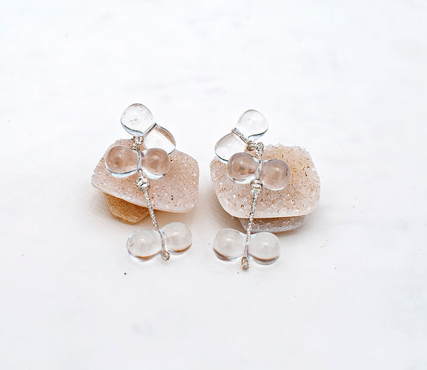 Bliss Dangle Earrings - Quartz crystal - TARBAY