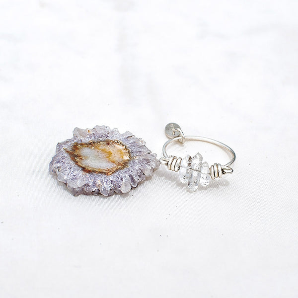 Bliss Ring - Diamond quartz - TARBAY