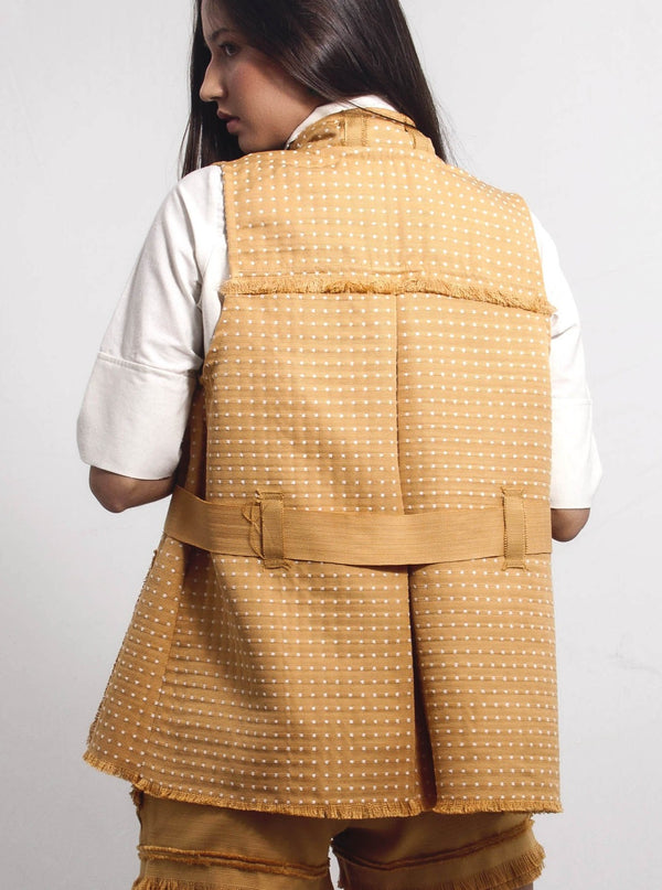 Gaia Dotted Cover - Mustard - TARBAY
