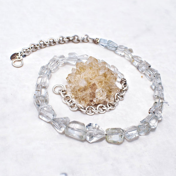 Bliss Necklace - White topaz