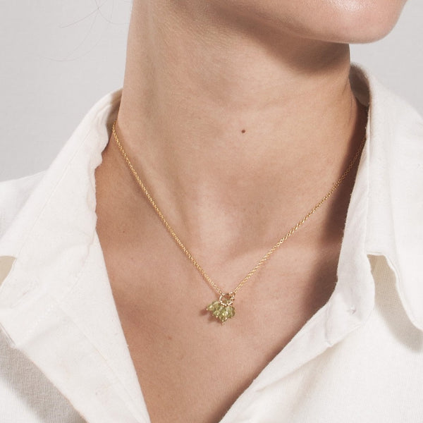 Racimo Necklace - Peridot & Green Sapphire