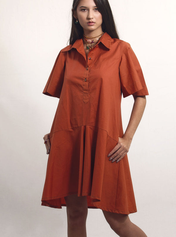 Milly Dress - Ochre - TARBAY