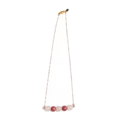 Rosetta Necklace - Rose Quartz & Rhodochrosite - TARBAY