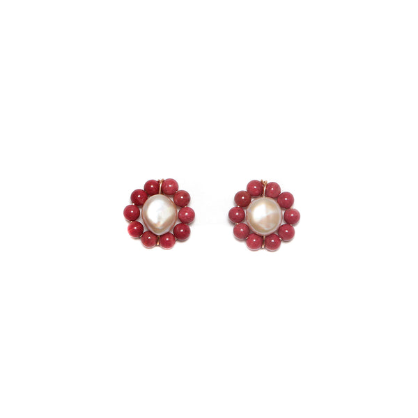 Rosetta 25mm Pink Earring