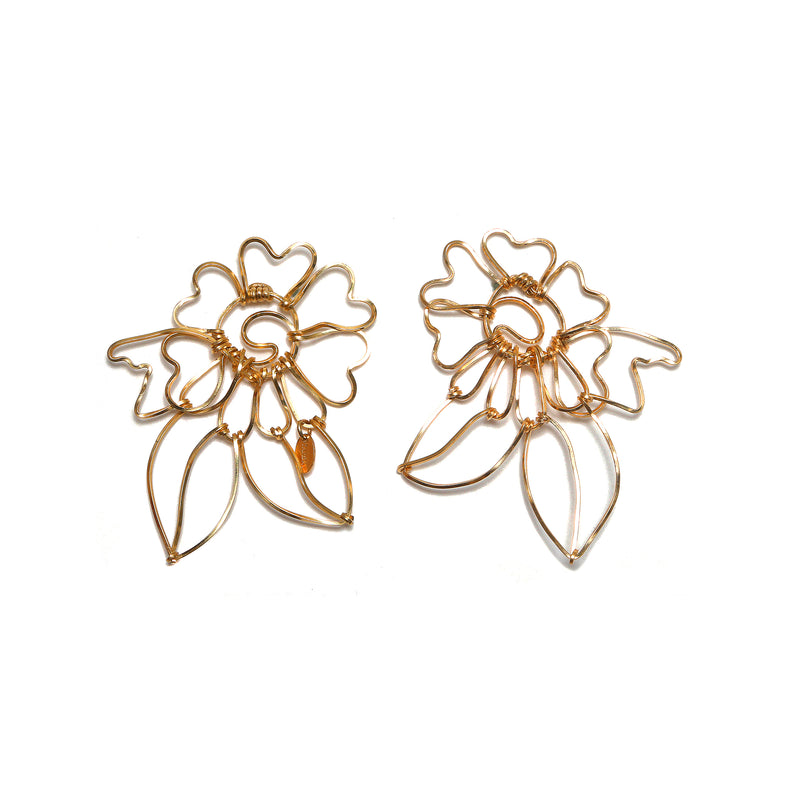 Flora Button Earring (60mm) - TARBAY