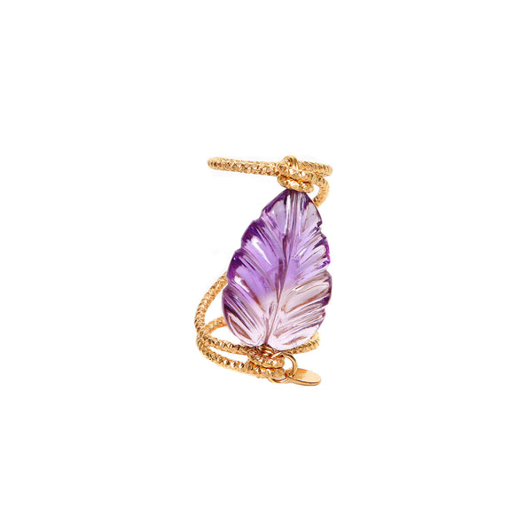 Maeve Ring (30mm) - Amethyst