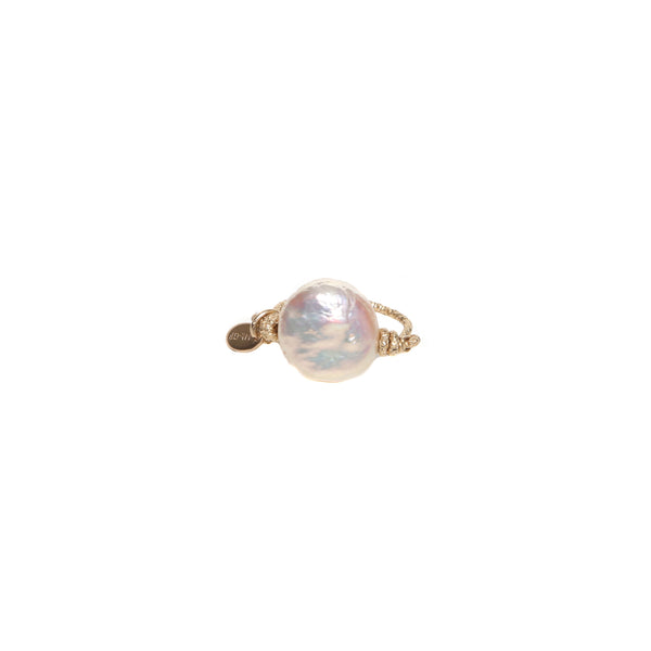 Solitario Ring - Pearl