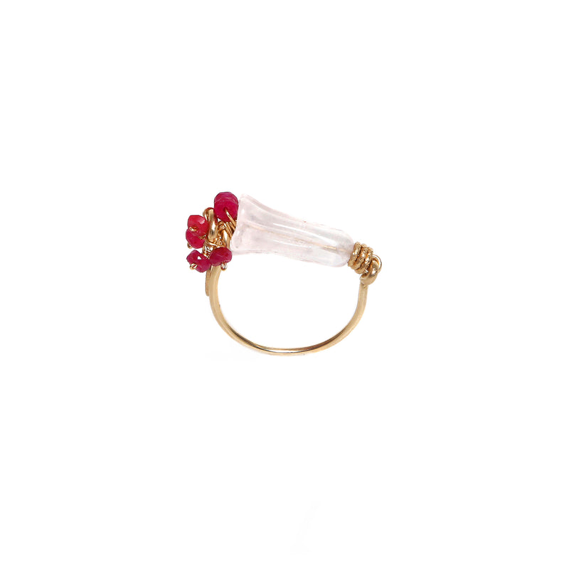 Branwen Rose Quartz Ring