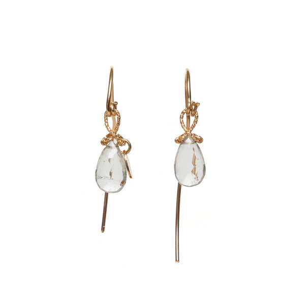Serpentina 55mm Green Amethyst Earring
