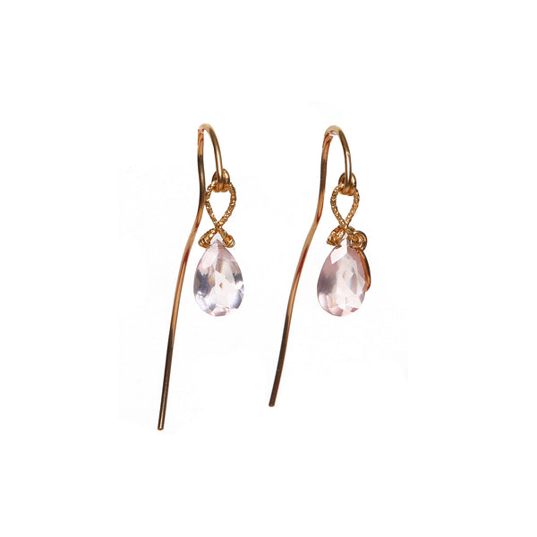 Serpentina 55mm Rose Quartz Earring