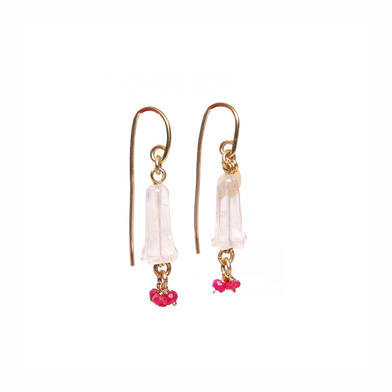 Branwen Rose Quartz Earring
