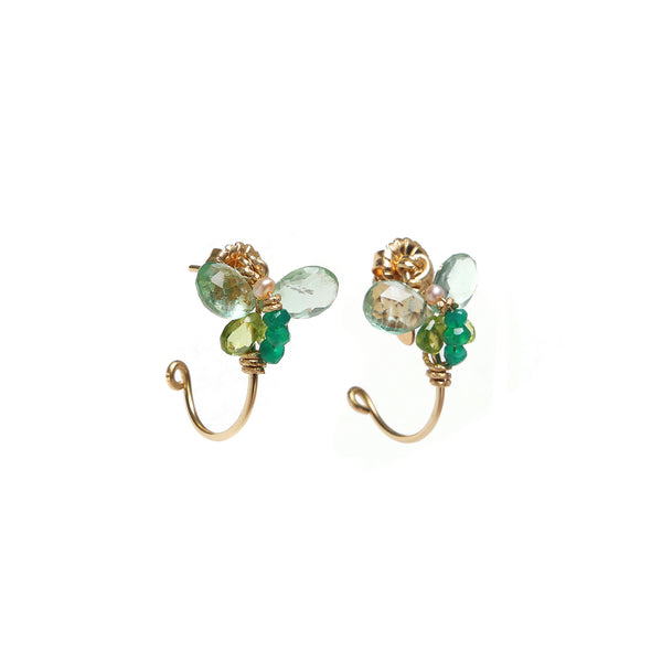 Arif 25mm Green Earring