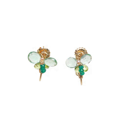 Arif 25mm Green Onyx Earring