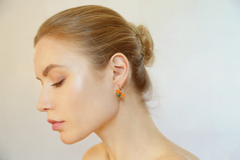 Arif 25mm Multicolors Earring