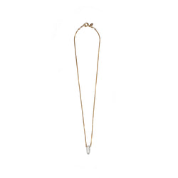 Gema Pendulum White Topaz Necklace - TARBAY