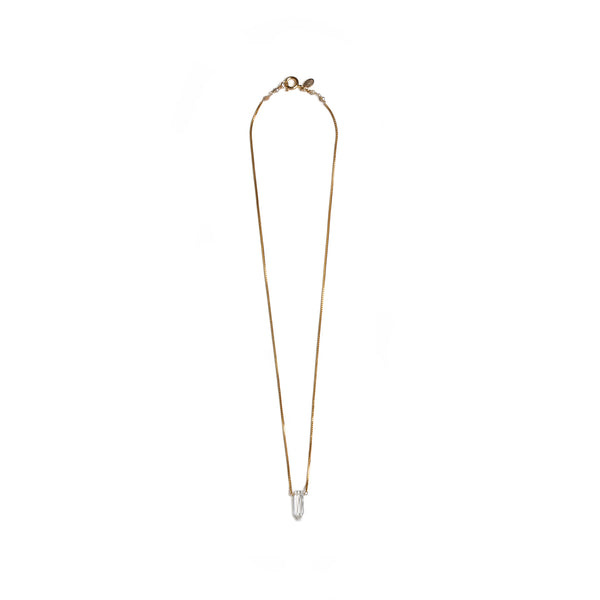 Gema Pendulum White Topacio Necklace